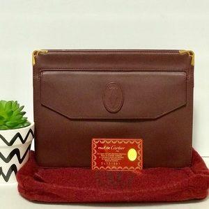Authentic Cartier Classic Clutch Handbag